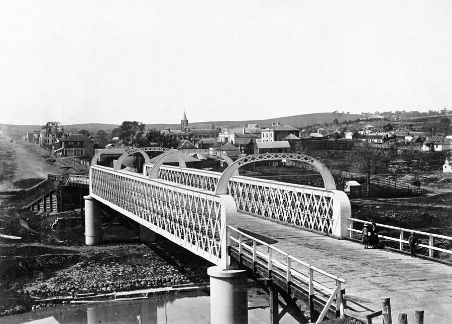 Yass Bridge and township circa 1876