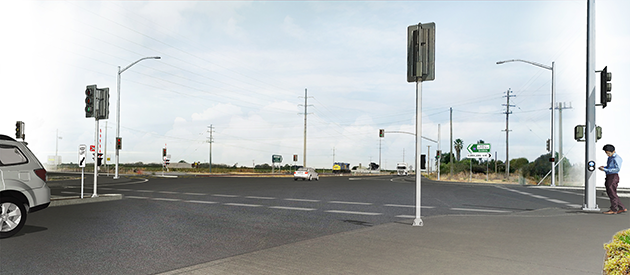 Artist's impression of Yoogali intersection upgrade