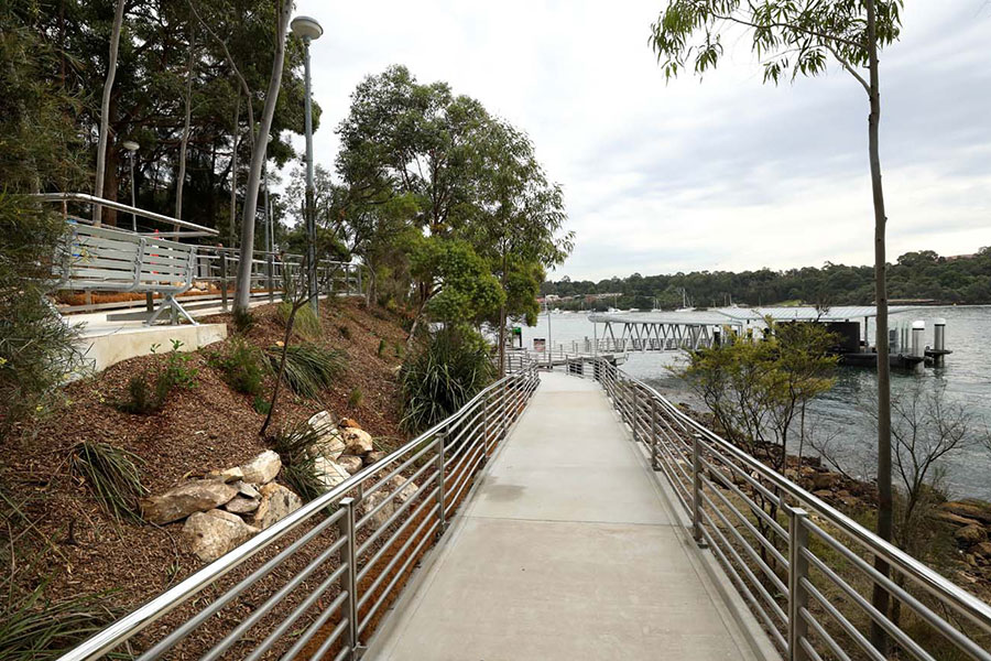Improved accessibility to the wharf