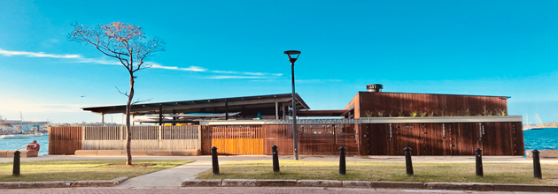 The upgraded Elizabeth Bay Marina, completed in March 2018