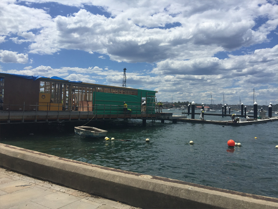 The Elizabeth Bay Marina structure defined