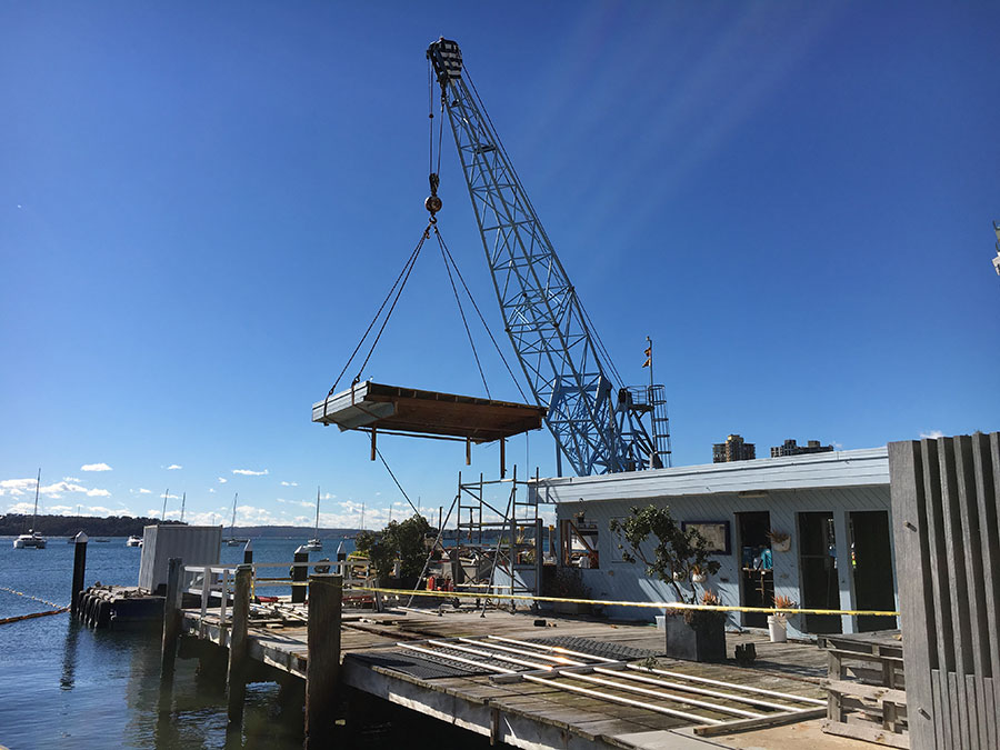 Removal of Elizabeth Bay Marine structure begins