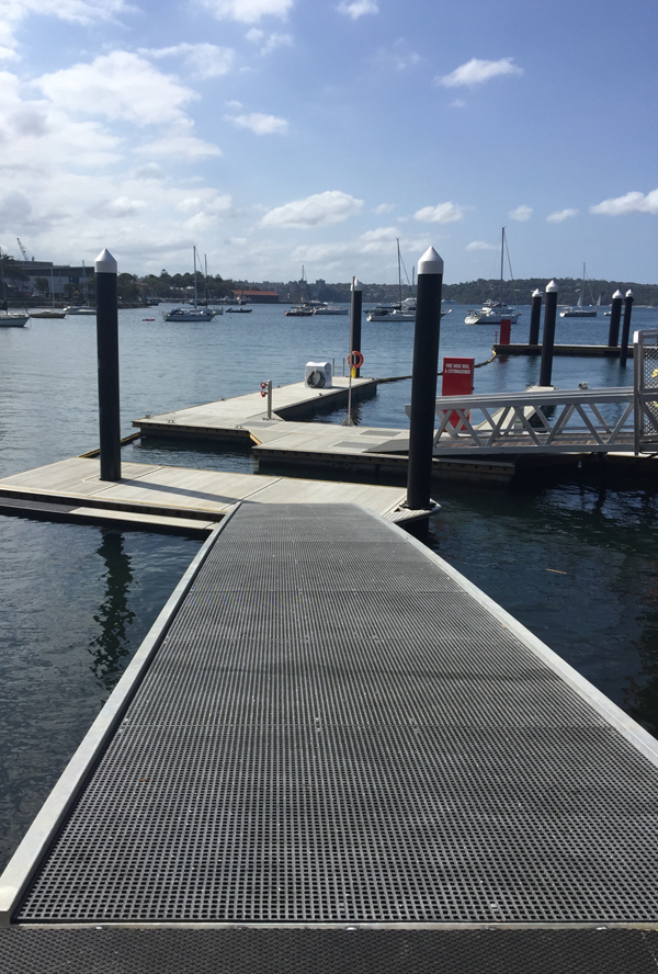 kayak launching pontoon