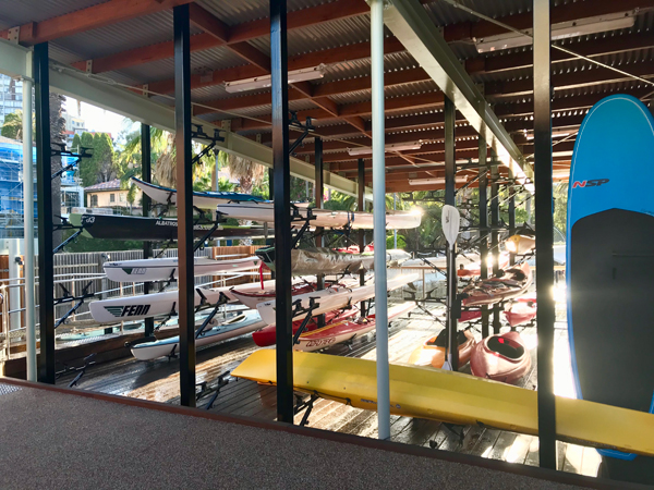 Kayak and Paddle Board storage facility