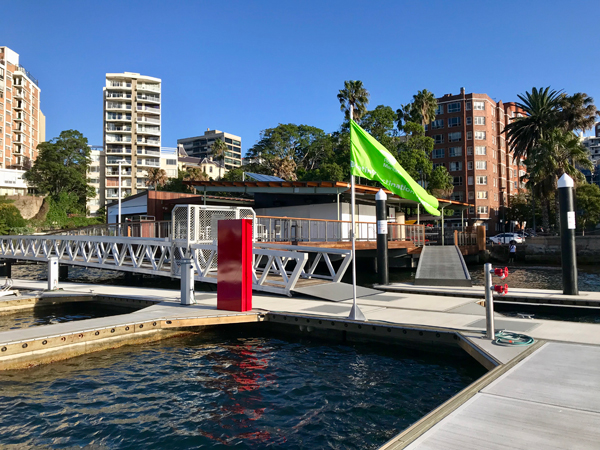 view of Elizabeth Bay Marina from berths