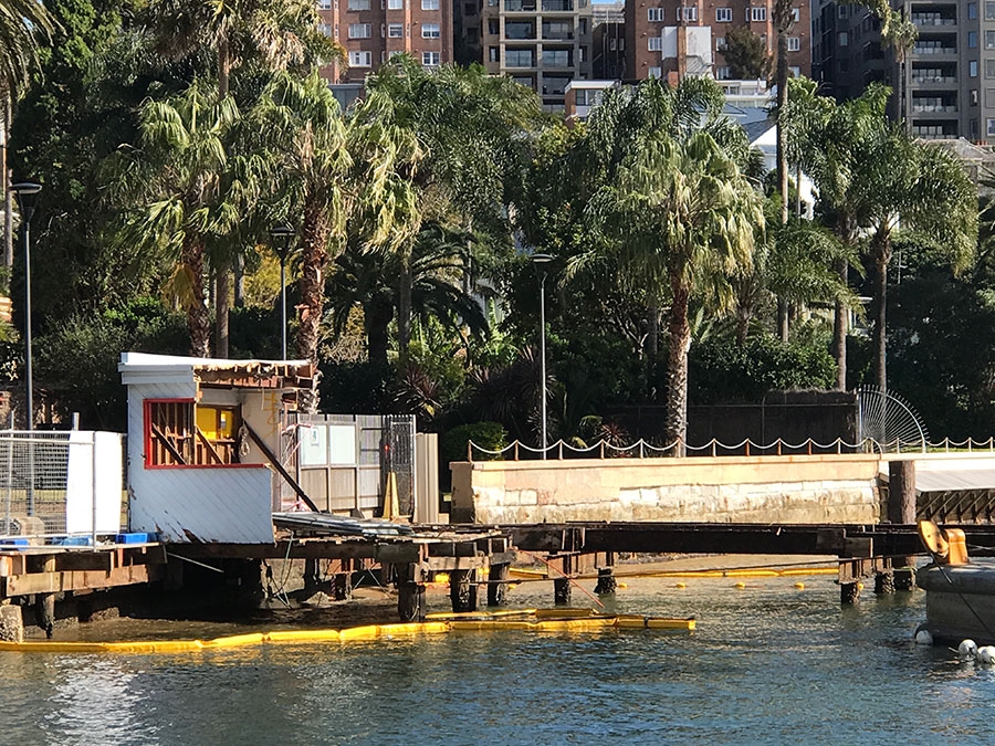 Structure mostly demolished