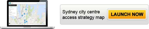 Click to launch the Sydney city centre access strategy map