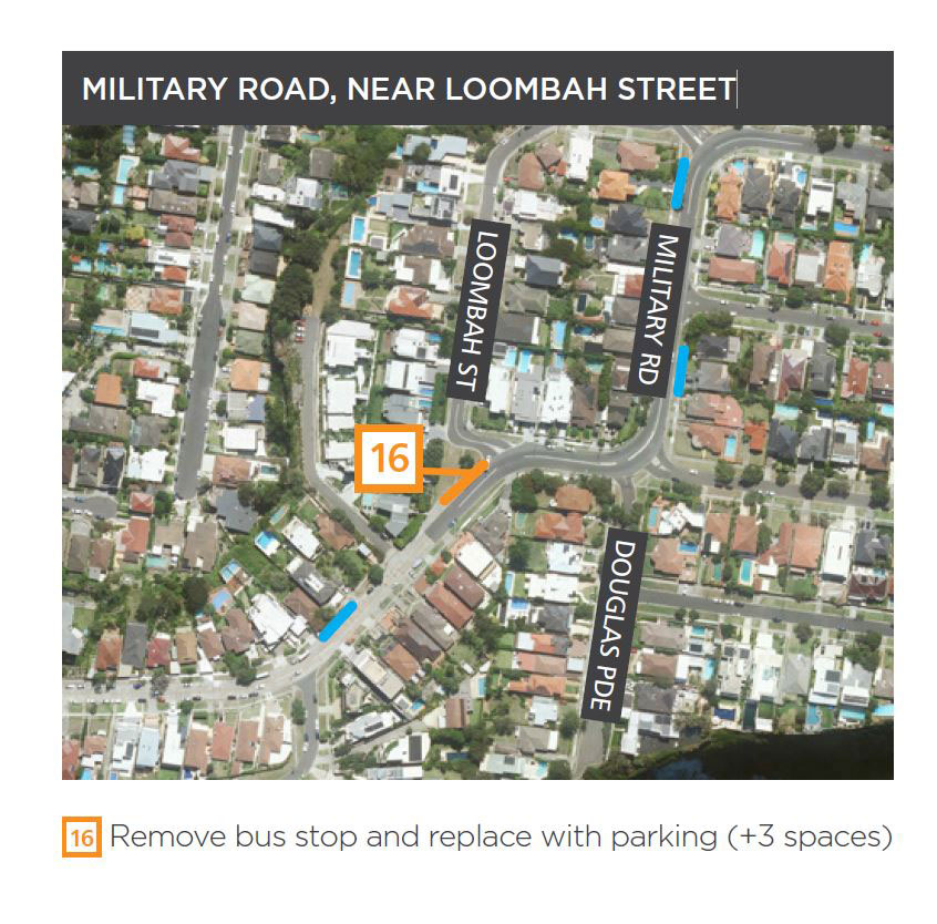 Military Road near Loombah Street
