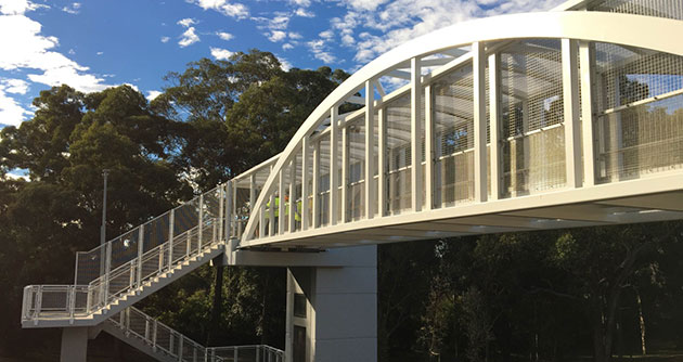 Beecroft pedestrian bridge