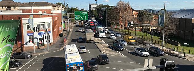 Devlin Street, Blaxland Road and Parkes Street - Sydney North