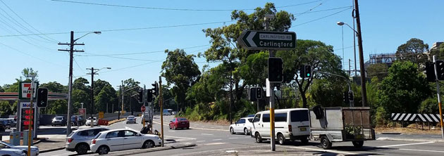 Intersection of Beecroft Road and Carlingford Road, Epping
