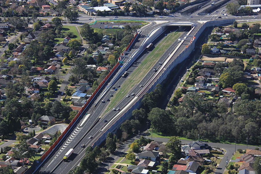Completed Windsor Road west-facing ramps (August 2013) [Aug 2013]