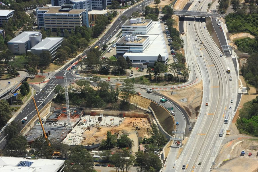 Construction of Maquarie Park ramps [Oct 2012]