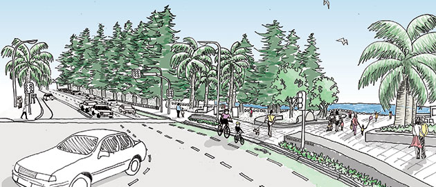 Artist impression of Peryman Square after work is complete