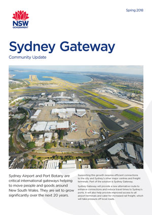 Sydney Gateway Sydney South Projects Roads And