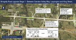 View or download the Bringelly Road upgrade Stage 1 map (PDF, 1.5Mb)