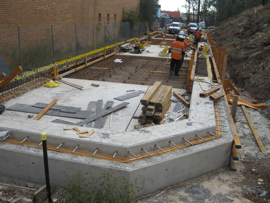 Water basin slab works [Jan 2013]