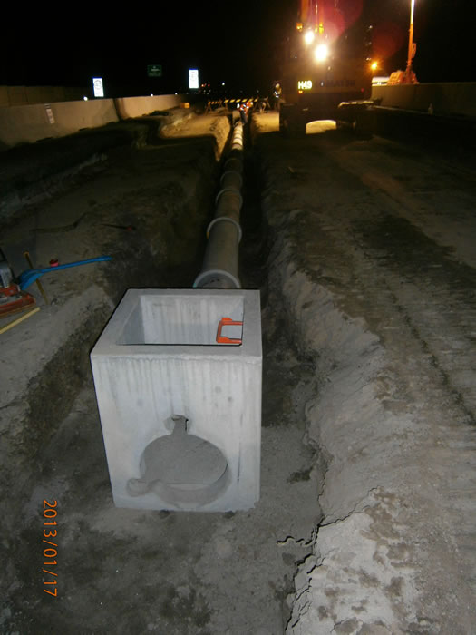 Stormwater drainage construction in Zone 1 [Jan 2013]