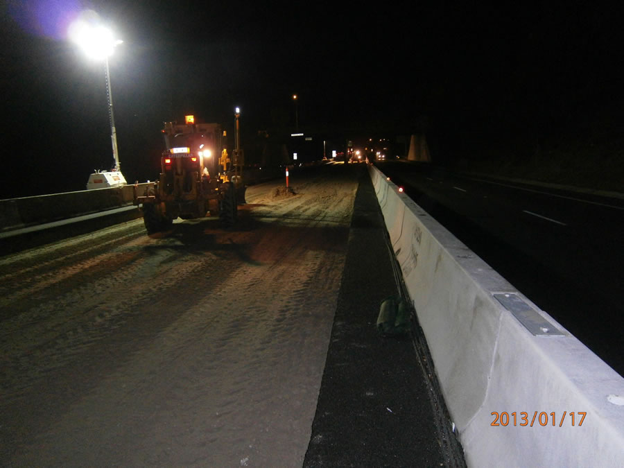 Continuation of pavement construction in Zone 1 and 3 [Jan 2013]