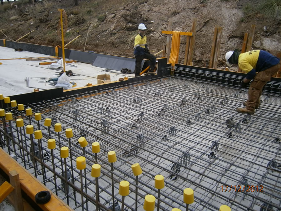 Construction of basin - first concrete pour on project [Dec 2012]