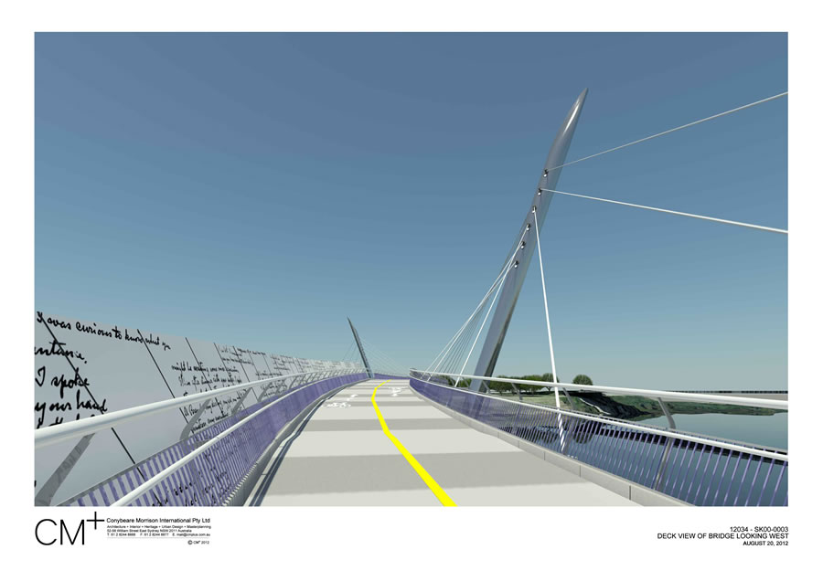 Option 1 - deck view of bridge looking west [Aug 2012]