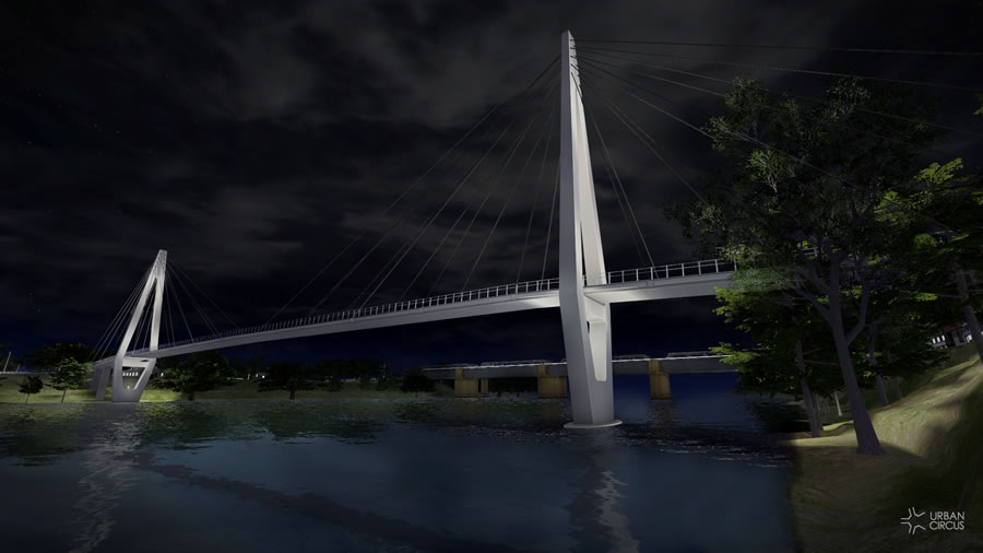 Option 2 - Roads and Maritime Services cable stayed bridge [Aug 2012]