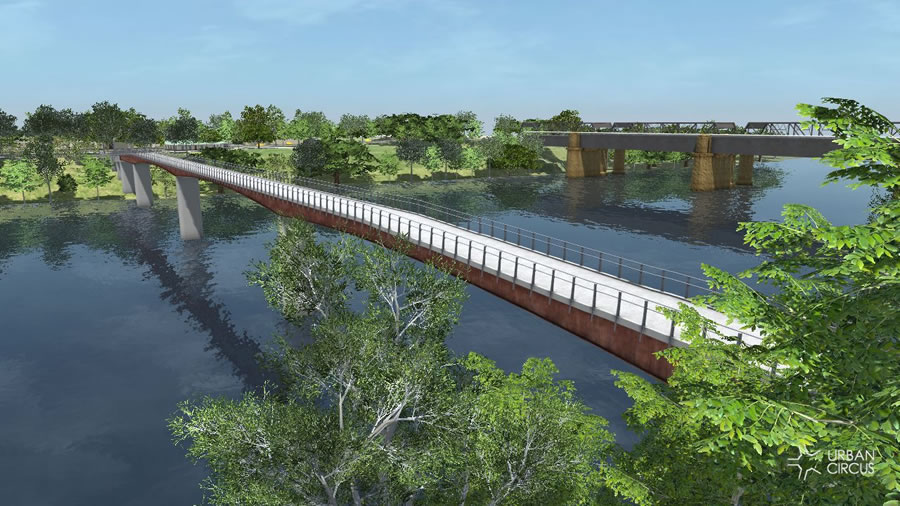Option 3 - View looking towards Emu Plains with Victoria Bridge upstream [Aug 2012]