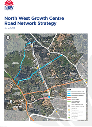 North West Growth Area road network map