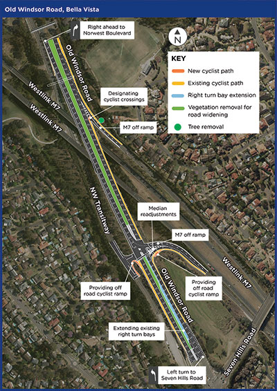 Old Windsor Road, Bella Vista - Sydney West - Projects - Roads and
