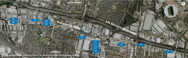 Granville to Lidcombe 05 to 17