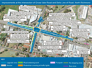 Richmond Bridge intersection improvements map