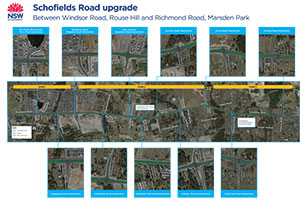 Schofields Road upgrade map
