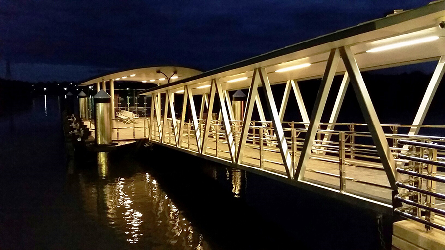 Sydney Olympic Park wharf at night