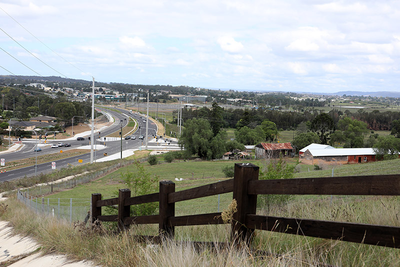The Northern Road upgrade between The Old Northern Road and Peter Brock Drive opened in April 2018