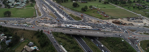 Artist impression of The Northern Road and M4 Motorway interchange
