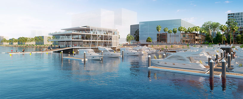 Artist impression of the proposed maritime facilities at Wentworth Point
