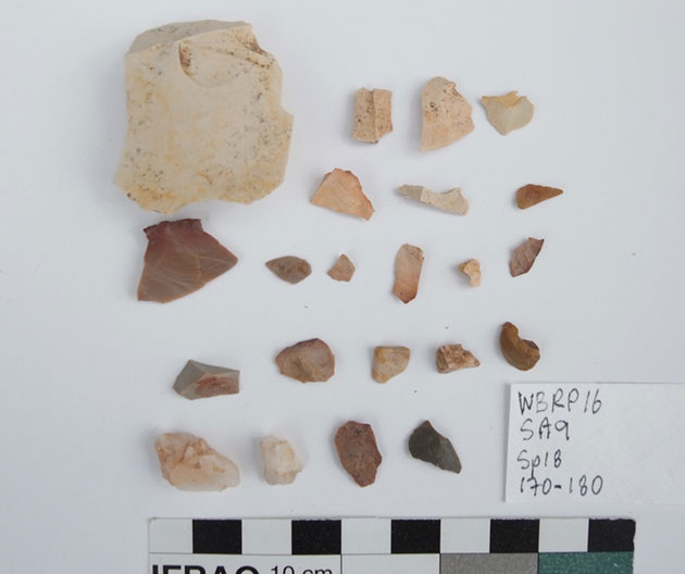 Examples of Aboriginal artefacts recovered