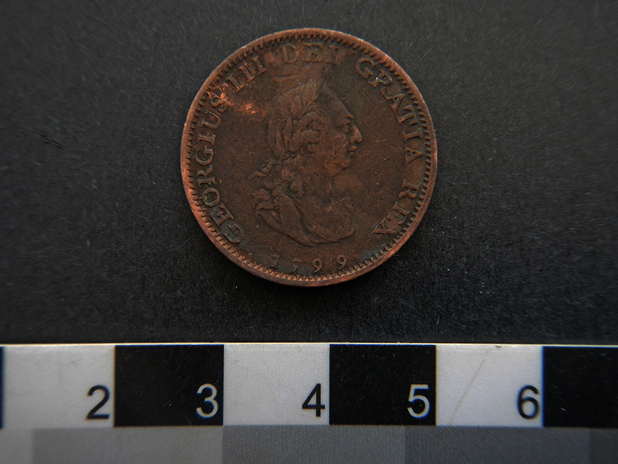 1799 coin (one of two found)