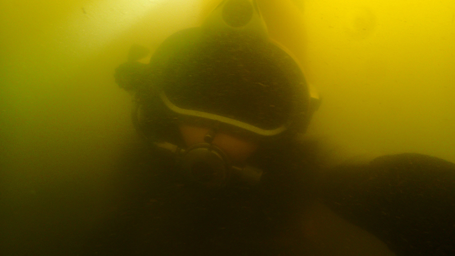 Underwater selfie of one of the divers