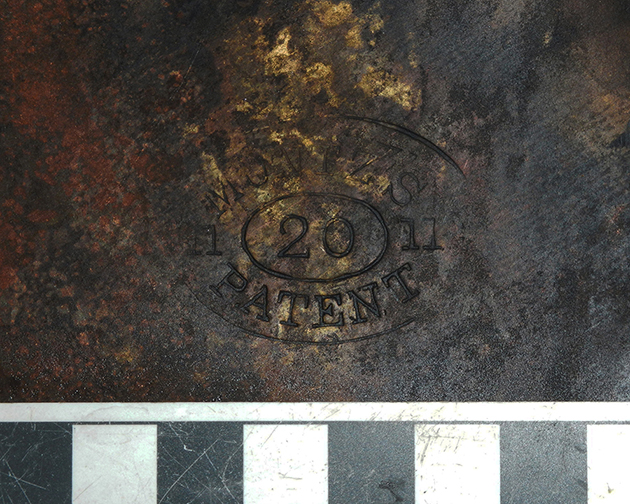 Muntz metal stamp (on copper sheeting used on 19th century vessels)
