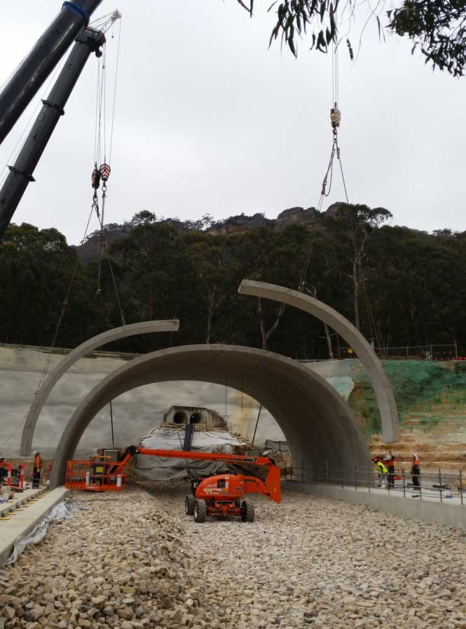 Forty Bends - Arch construction