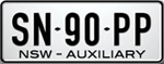 Auxiliary number plate