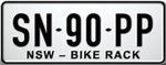 Bike rack number plate