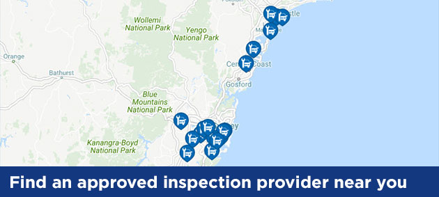 Find an approved inspection provider