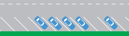 Parallel angle parking example