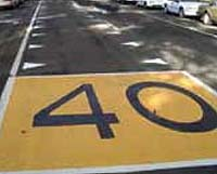 Dragon's Teeth are a painted series of triangular road markings placed in pairs on each side of a lane or road.