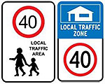 Image showing two types of local traffic area signs.