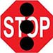 Image showing stop sign with three black dots