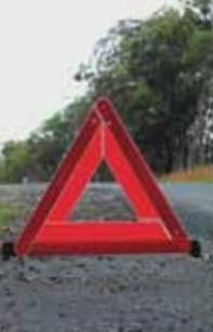 Warning triangles for crashes and breakdowns