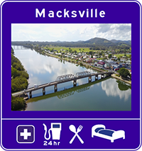 Example of the new sign, showing information about Macksville.
